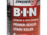BIN Zinsser (Primaire d'accrochage, barreur de tanin, résines Shellac)