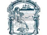 """Mermaid"" transfert pelliculable  56 x 76cm"