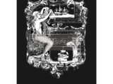 """Mermaid II"" transfert pelliculable blanc  56 x 76cm"
