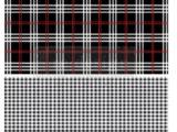 Gingham Black  58 x 80cm (58x40cm chaque motifs)