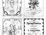 Spring Flowers  61 x 81cm (la planche de 4 dessins)