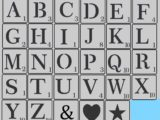 Pochoir lettre Scrabble