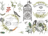 L'Horloge 89x59cm