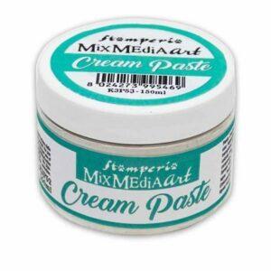 cream paste stamperia blanche