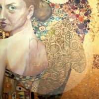 Beautiful woman in gold MINT by Michelle