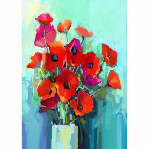 Poppies MINT by Michelle