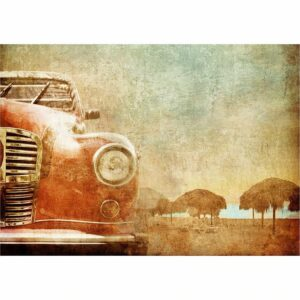Old Red Car MINT by Michelle