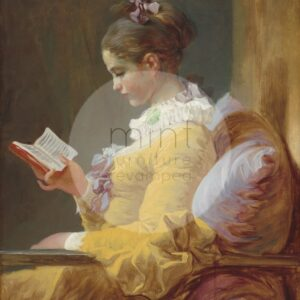 Young Girl Reading MINT by Michelle
