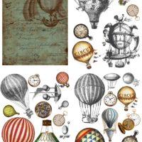 Hot Air Balloons & Clocks Dixie Belle