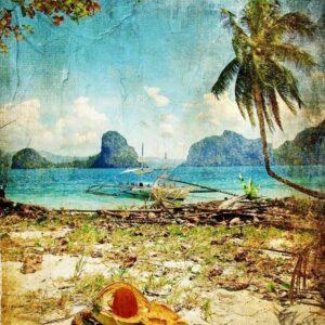 Tropical Beach MINT by Michelle